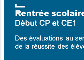 Evaluations nationales CP et CE1